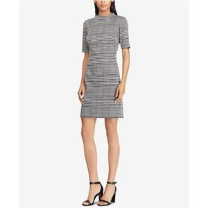 American Living houndstooth plaid shift dress